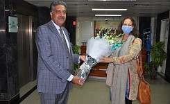 Visit of H.E. Ms. Lis Rosenholm, Ambassador of Denmark to Pakistan to the office of Dr. Rana Abdul J
