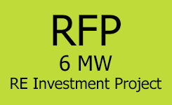 For request for proposals against 6 MW project